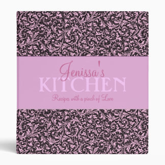 Pink Filigree Recipe Binder