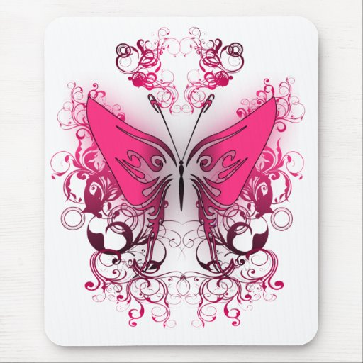 Pink Fire Mouse Pad