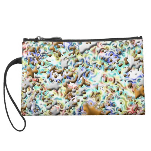 PINK FIRE SEVEN Colorful Little Black Book Candy Wristlet Clutch