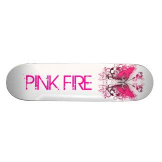 Pink Fire Skateboard