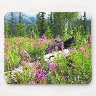 Pink Fireweed flowers, Matanuska Valley, Alaska Mouse Pad