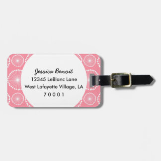 Pink Fireworks Personalized Luggage Tag