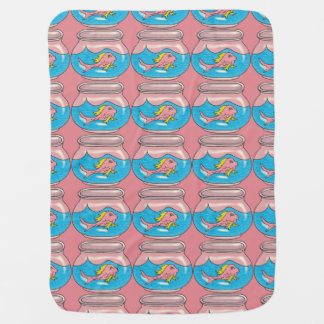 Pink Fish Baby Blanket