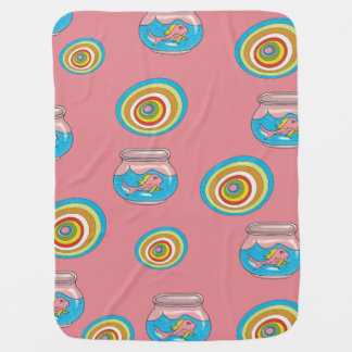 Pink Fish Baby Blanket 2
