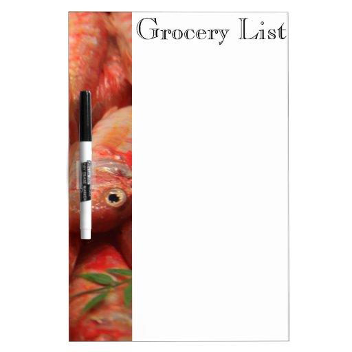 Pink Fish Dry Erase Board