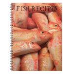 Pink Fish Fish Recipes Notebook