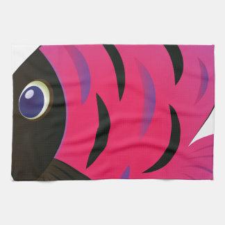 Pink Fish Kitchen Towels