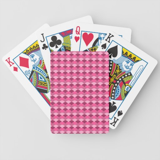 Pink Fish Scale Pattern Bicycle Playing Cards
