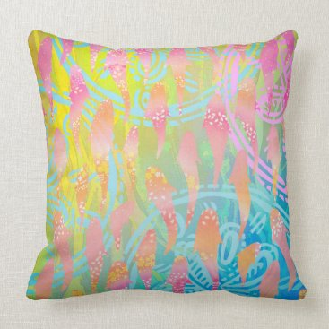 """Beach Themed Pink fishes Throw Pillow 20"""" x 20"""""""