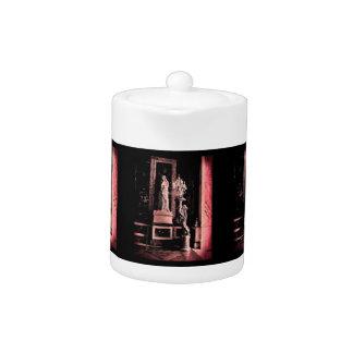 Pink Fisheye Versailles Statue Teapot