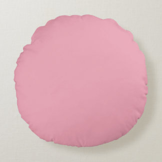 Pink Fizz Candy Bubblegum Uptown Girl Design Pink Round Pillow