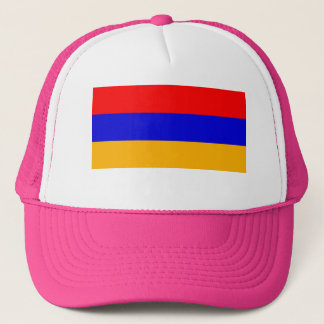 PINK Flag of Armenia Trucker Hat