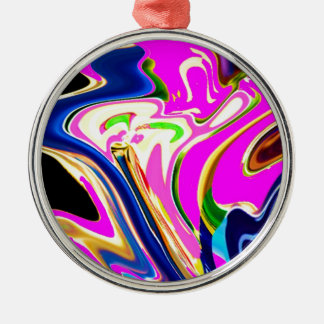 Pink Flair Waves : Happiness, Healing n Smiles Christmas Tree Ornaments