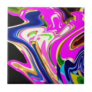 Pink Flair Waves : Happiness, Healing n Smiles Tile