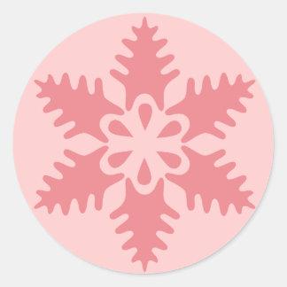 Pink Flake 7 Classic Round Sticker