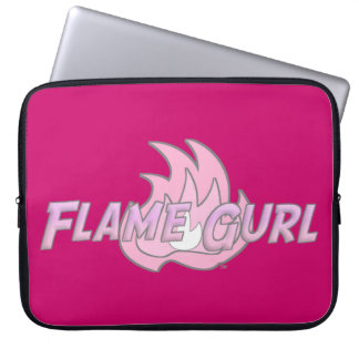 Pink Flame Gurl Logo Laptop Sleeve
