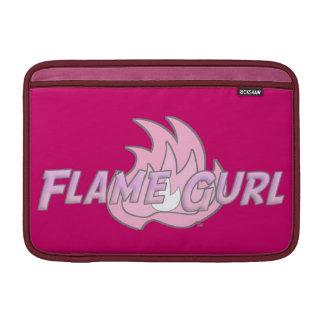 Pink Flame Gurl Logo MacBook Sleeve