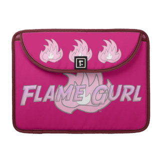 Pink Flame Gurl Logo Sleeve For MacBooks