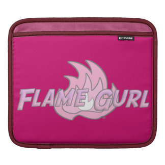 Pink Flame Gurl Logo Sleeves For iPads