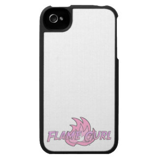 Pink Flame Gurl Logo iPhone 4 Cover