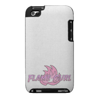 Pink Flame Gurl Logo iPod Touch Cover