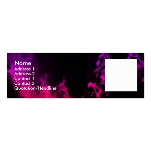 Pink Flames Business Card