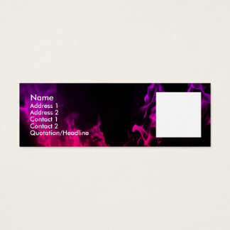 Pink Flames Mini Business Card