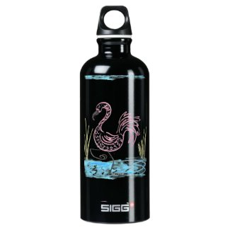 Pink Flamingo #13 by EelKat Wendy C Allen Aluminum Water Bottle
