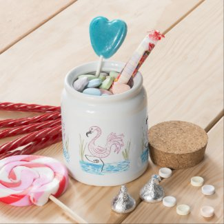Pink Flamingo #13 by EelKat Wendy C Allen Candy Jars