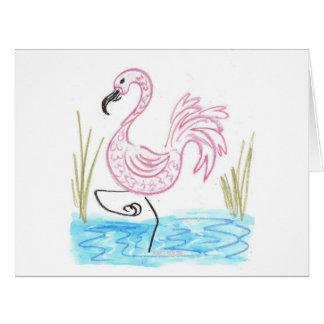 Pink Flamingo #13 by EelKat Wendy C Allen Card