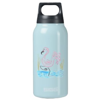 Pink Flamingo #13 by EelKat Wendy C Allen Insulated Water Bottle