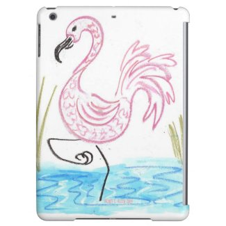 Pink Flamingo #13 by EelKat Wendy C Allen iPad Mini Cases