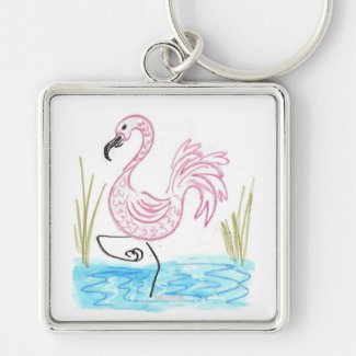 Pink Flamingo #13 by EelKat Wendy C Allen