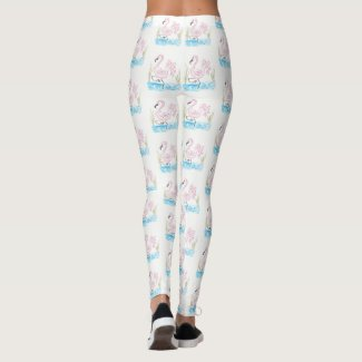Pink Flamingo 13 by EelKat Wendy C. Allen Leggings