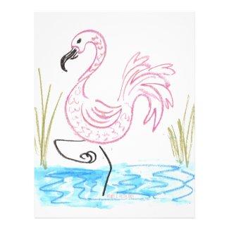 Pink Flamingo #13 by EelKat Wendy C Allen Letterhead