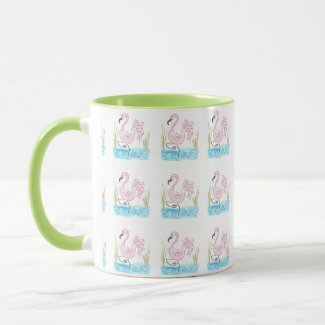 Pink Flamingo #13 by EelKat Wendy C Allen Mug