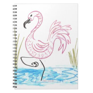 Pink Flamingo #13 by EelKat Wendy C Allen Notebook