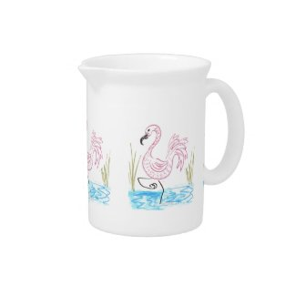 Pink Flamingo #13 by EelKat Wendy C Allen Pitcher