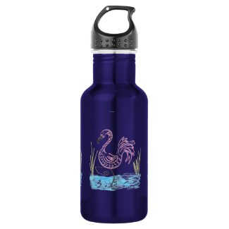 Pink Flamingo #13 by EelKat Wendy C Allen Stainless Steel Water Bottle