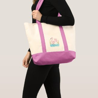 Pink Flamingo #13 by EelKat Wendy C Allen Tote Bag