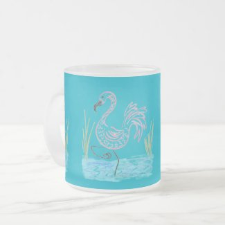 Pink Flamingo #13 by EelKat Wendy C Allen Travel Mug