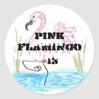Pink Flamingo #13 Classic Round Sticker