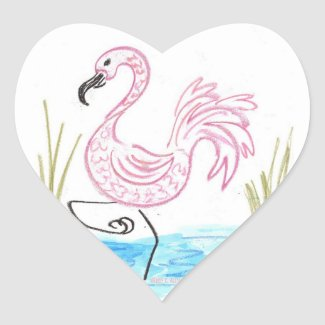 Pink Flamingo 13 Classic Round Sticker