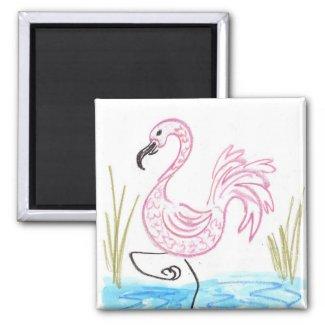 Pink Flamingo #13 Magnet