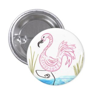 Pink Flamingo #13 Pinback Button