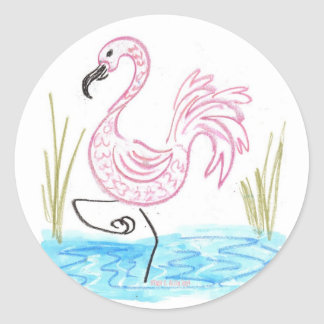 Pink Flamingo 13 Sticker