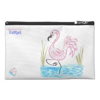 Pink Flamingo #13 Travel Accessory Bag