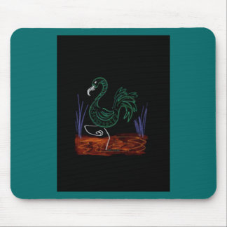 Pink Flamingo 13 wide boarder inverted Mouse Pad