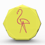 Pink Flamingo Acrylic Award