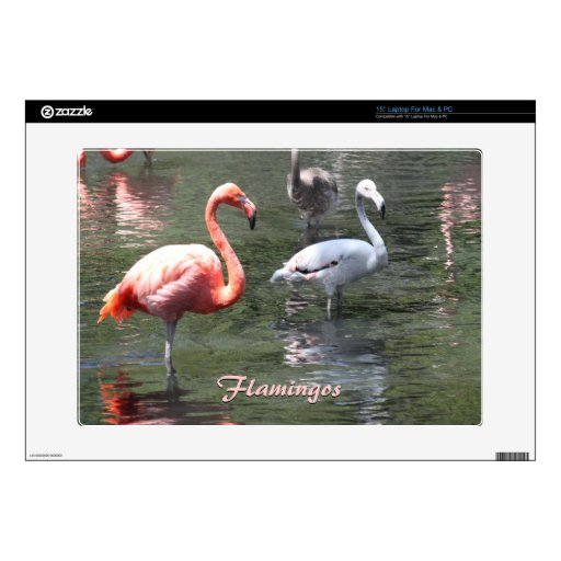 Pink flamingo and juvenile skin decal for laptop zazzle for Stickers juveniles